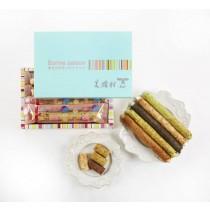 幸福彩虹-糖心牛軋糖蛋捲(15支/盒)-提盒裝(綜合)
